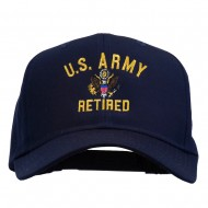 US Army Retired Military Embroidered Cap - Navy