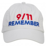 911 Remembered Embroidered Low Profile Cap - Stone