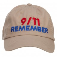 911 Remembered Embroidered Low Profile Cap - Khaki
