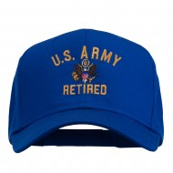 US Army Retired Military Embroidered Cap - Royal