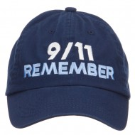 911 Remembered Embroidered Low Profile Cap - Navy