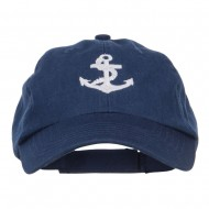 Anchor Logo Embroidered Low Cap - Navy