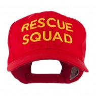 Rescue Squad Embroidered Cap - Red