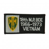 Army Rectangle Embroidered Military Patch - 18th MP