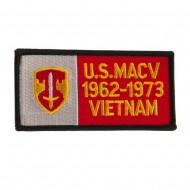 Army Rectangle Embroidered Military Patch - MACV