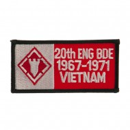 Army Rectangle Embroidered Military Patch - 20th Eng