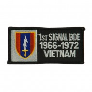 Army Rectangle Embroidered Military Patch - 1st Single