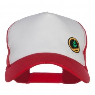 Trainer Red Poke Monster Embroidered Mesh Cap - White Red