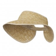 Braided Straw Roll Up Visor - Natural