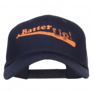 Batter Up Embroidered Low Profile Cap - Navy