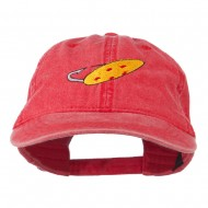 Fishing Red Walleye Lure Embroidered Washed Cap - Red