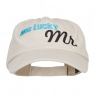 One Lucky Mr Embroidered Low Cap - Putty