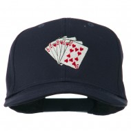 Royal Flush Embroidered Cotton Twill Cap - Navy