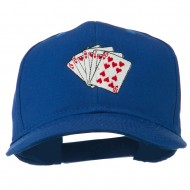 Royal Flush Embroidered Cotton Twill Cap - Royal