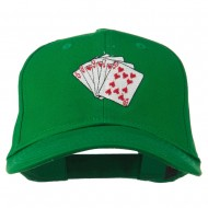 Royal Flush Embroidered Cotton Twill Cap - Kelly