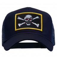 Skull Choppers Red Eyes Patched Cap - Navy