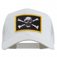 Skull Choppers Red Eyes Patched Cap - White