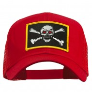 Skull Choppers Red Eyes Patched Cap - Red