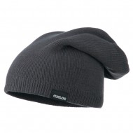 Men's Reversible Slouchy Beanie - Charcoal