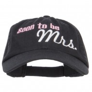 Soon To Be Mrs Embroidered Low Cap - Black