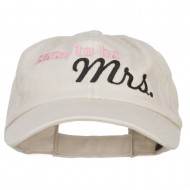 Soon To Be Mrs Embroidered Low Cap - Putty