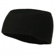 Solid Colored Rib Knit Earband - Black