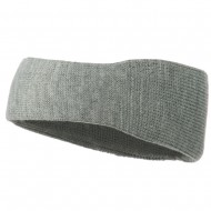 Solid Colored Rib Knit Earband - Grey