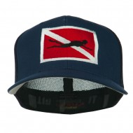 Scuba Diver Down Flag Embroidered Cap - Navy