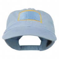 South Dakota State Map Embroidered Washed Cotton Cap - Lavender