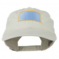 South Dakota State Map Embroidered Washed Cotton Cap - Stone Grey