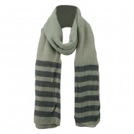 Women's Acrylic Striped Ends Scarf - Taupe