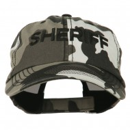 Sheriff Embroidered Enzyme Washed Camo Cap - City