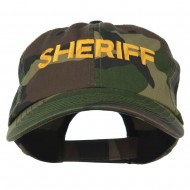 Sheriff Embroidered Enzyme Washed Camo Cap - Camo