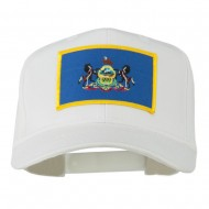 State of Pennsylvania Embroidered Patch Cap - White
