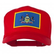 State of Pennsylvania Embroidered Patch Cap - Red