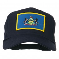 State of Pennsylvania Embroidered Patch Cap - Navy