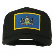 State of Pennsylvania Embroidered Patch Cap - Black