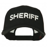 Sheriff Embroidered Military Mesh Back Cap - Black