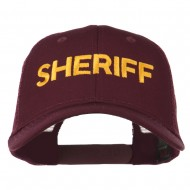Sheriff Embroidered Military Mesh Back Cap - Maroon