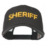 Sheriff Embroidered Military Mesh Back Cap - Charcoal Grey