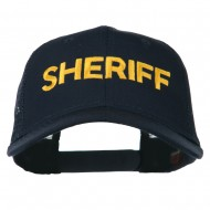Sheriff Embroidered Military Mesh Back Cap - Navy