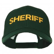 Sheriff Embroidered Military Mesh Back Cap - Dark Green