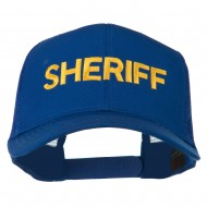 Sheriff Embroidered Military Mesh Back Cap - Royal