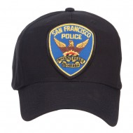 San Francisco Police Seal Patched Cotton Twill Cap - Black