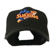 Surfing Board Logo Embroidered Cap - Black