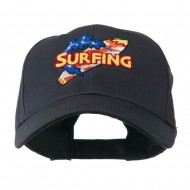 Surfing Board Logo Embroidered Cap - Navy