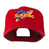Surfing Board Logo Embroidered Cap - Red