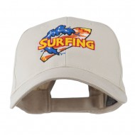 Surfing Board Logo Embroidered Cap - Stone