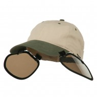 UV Clip On Shade Panel for Hats (Panel Only) - Black