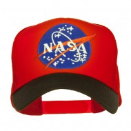 NASA Patched Two Tone Mesh Cap - Black Red